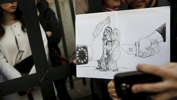 Protestas en España contra el acuerdo UE-Turquía - Sputnik Mundo