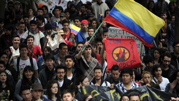 Paro nacional agrario en Colombia (archivo) - Sputnik Mundo