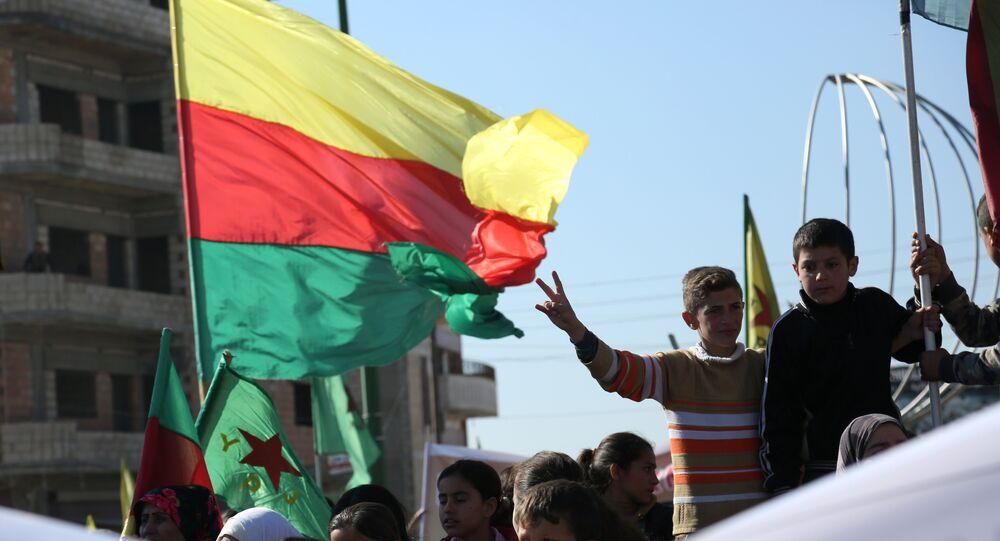 Demostración kurda en la ciudad siria de Qamishli (archivo)