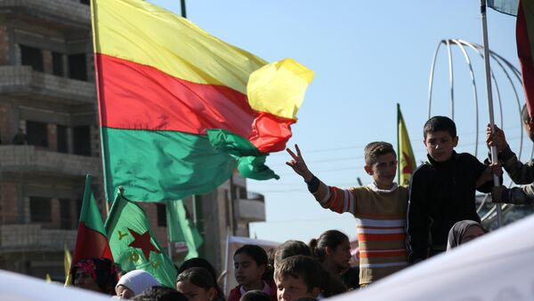 Demostración kurda en la ciudad siria de Qamishli (archivo) - Sputnik Mundo
