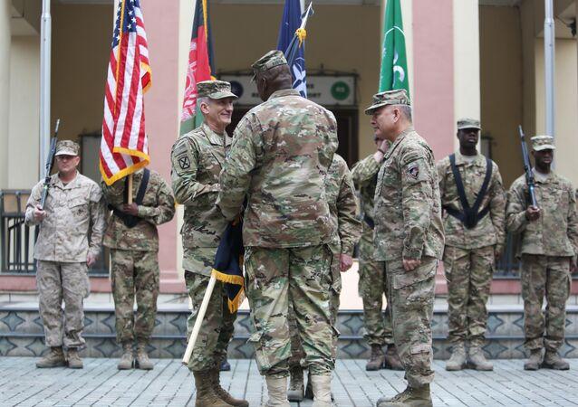 Comandantes de la OTAN en la sede de la misión Apoyo Resoluto, Kabul (archivo)