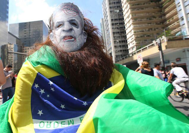 Manifestación antigubernamental en Brasil