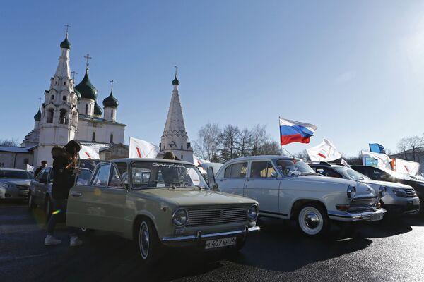 El segundo aniversario de la reunificación de la península de Crimea con Rusia - Sputnik Mundo