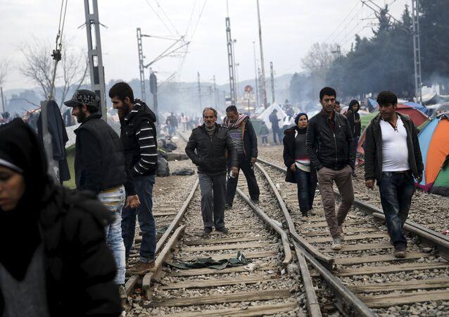 Refugiados llegan a Europa (archivo)