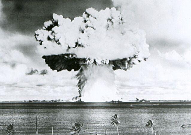 La prueba nuclear de EEUU en el atolón Bikini (archvio)