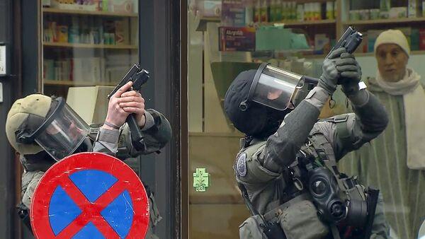 Operación policial en Bruselas - Sputnik Mundo