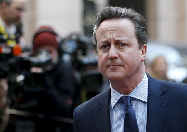 David Cameron, exprimer ministro británico