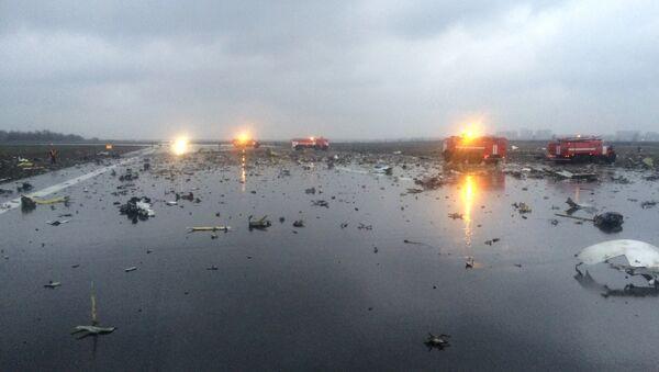 Lugar del siniestro del Boeing-737 en Rostov del Don en Rusia - Sputnik Mundo
