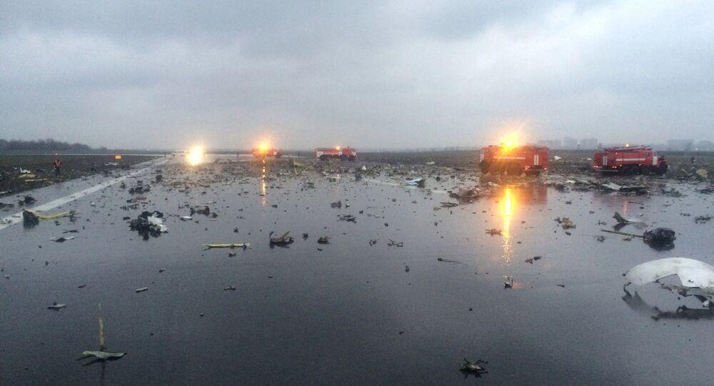 Lugar del siniestro del Boeing-737 en Rostov del Don en Rusia