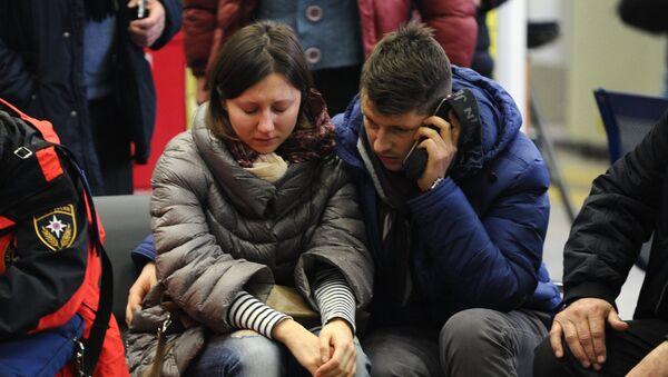Familiares de las víctimas del siniestro del Boeing-737 en Rostov del Don - Sputnik Mundo