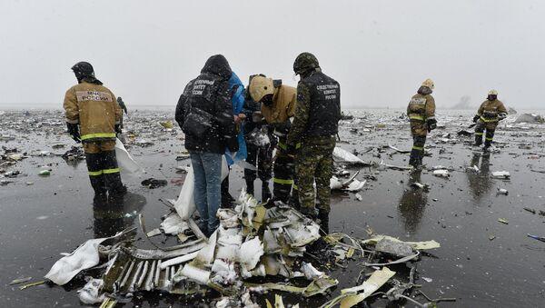 Lugar del siniestro del Boeing en Rostov del  Don, Rusia - Sputnik Mundo