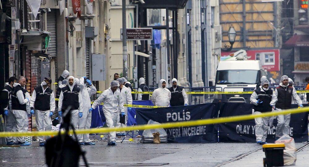 Lugar del atentado suicida en Estambul