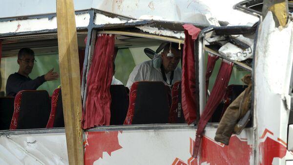 El lugar del accidente del autobús en la ciudad catalana de Tarragona (España) - Sputnik Mundo