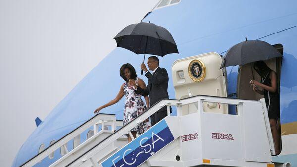 Presidente EEUU Barack Obama y su esposa Michelle en La Habana - Sputnik Mundo