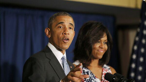 Presidente EEUU Barack Obama y su esposa Michelle en el hotel Meliá Habana - Sputnik Mundo