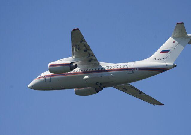 An-148 del Ministerio de Emergencias de Rusia