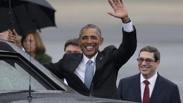 Barack Obama durante su visita a Cuba en marzo de 2016 - Sputnik Mundo