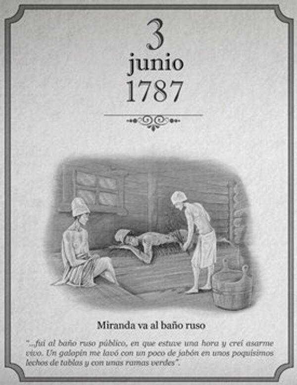 Calendario del viaje de Francisco de Miranda al Imperio Ruso small - Sputnik Mundo