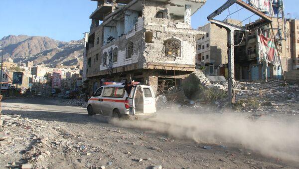 Edificios destruidos en Yemen - Sputnik Mundo