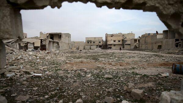 Edificios destruidos en Duma, Siria - Sputnik Mundo