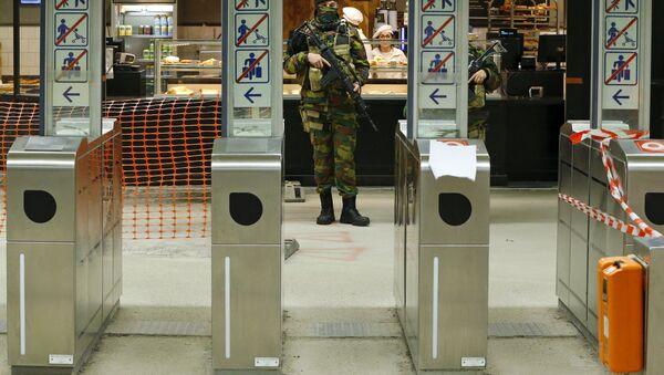 El metro de Bruselas (archivo) - Sputnik Mundo
