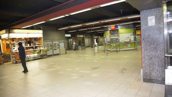 Una estación del metro en Bruselas - Sputnik Mundo