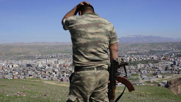 Soldado turco en la ciudad de Cizre - Sputnik Mundo