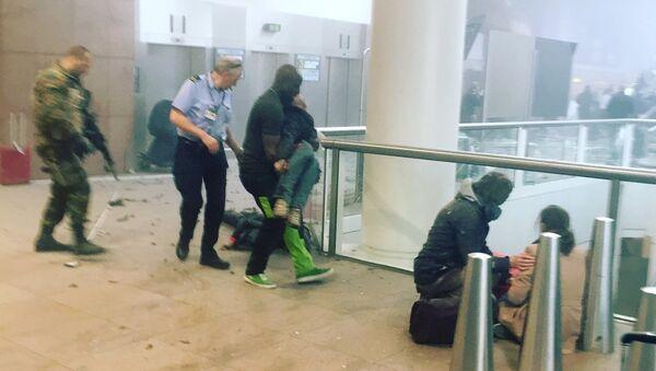 El lugar del atentado en el aeropuerto de Bruselas - Sputnik Mundo
