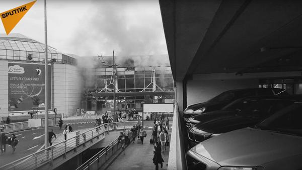 La tragedia de Bruselas en imágenes - Sputnik Mundo
