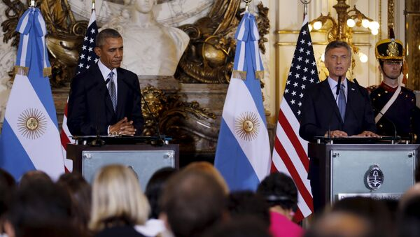 Presidente de EEUU, Barack Obama y presidente de Argentina, Mauricio Macri - Sputnik Mundo
