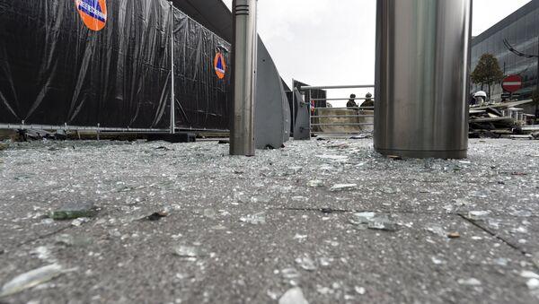 Lugar del atentado en el aeropuerto de Bruselas - Sputnik Mundo