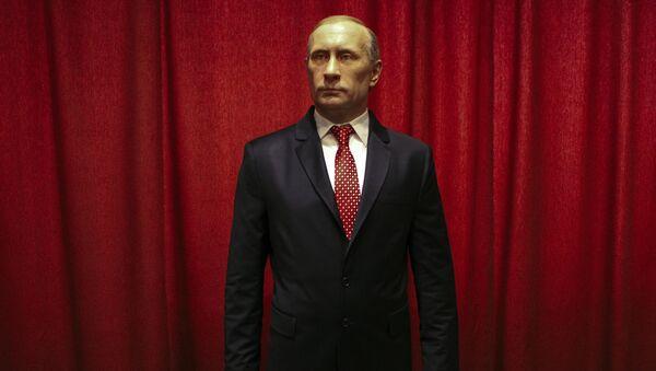 La figura del presidente de Rusia Vladímir Putin en  el museo de Jagodina - Sputnik Mundo