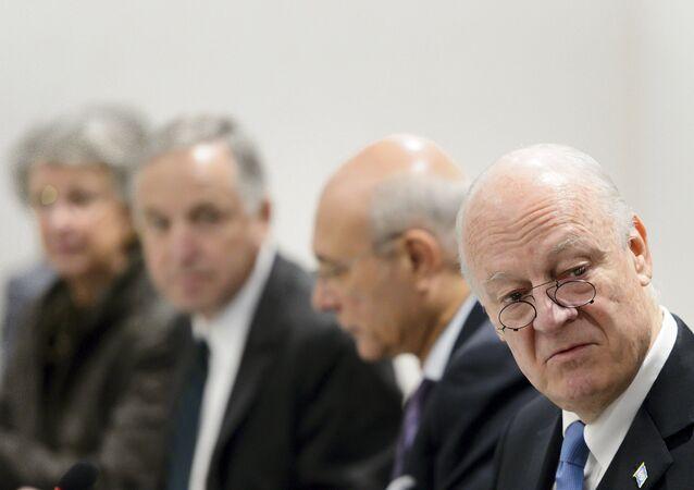 Staffan de Mistura, enviado especial de la ONU en el Siria