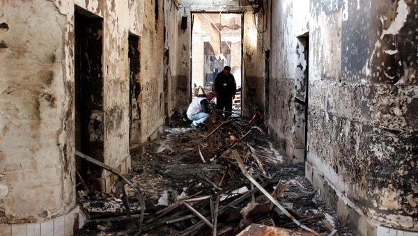 Edificio destruido del hospital de Médicos Sin Fronteras (MSF) en Kunduz - Sputnik Mundo