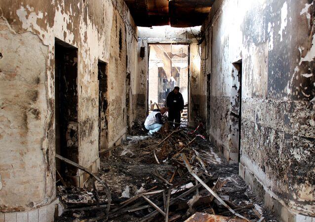 Edificio destruido del hospital de Médicos Sin Fronteras (MSF) en Kunduz