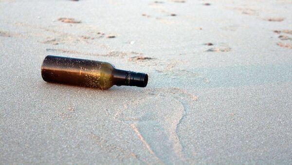 Una botella en la playa - Sputnik Mundo