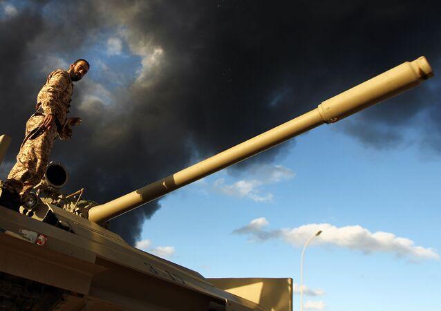 Un soldado libio (archivo)