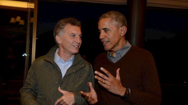 Presidente de Argentina, Mauricio Macri, y el presidente de EEUU, Barack Obama - Sputnik Mundo