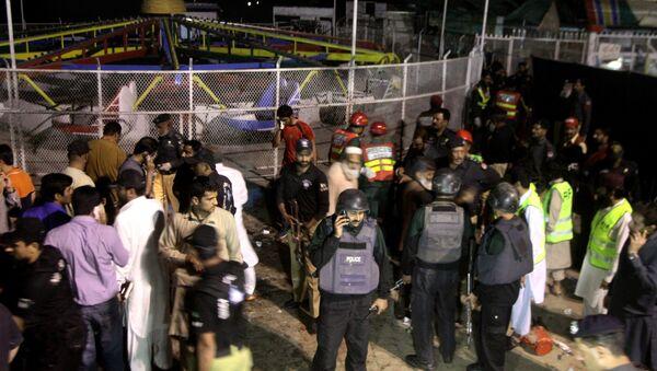 Lugar del atentado en Lahore, Pakistán - Sputnik Mundo