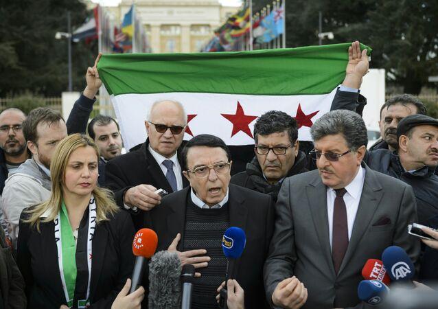 Riyad Naasan Agha, el portavoz del Alto Comité de Negociaciones de Siria (archivo)