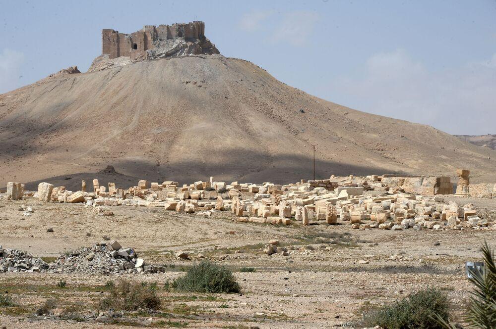 La destruida zona histórica de Palmira