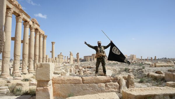 A historic site in the Syrian city of Palmyra destroyed in the military operations. - Sputnik Mundo