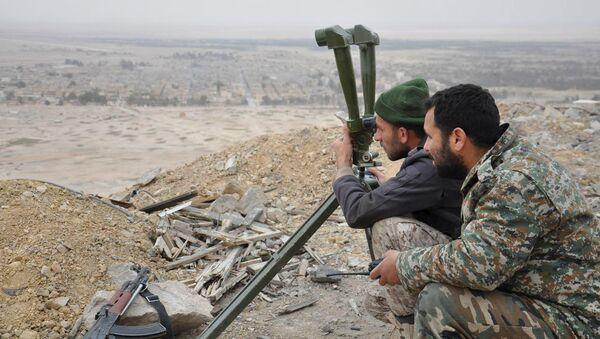 Los militares sirios en Palmira (Archivo) - Sputnik Mundo