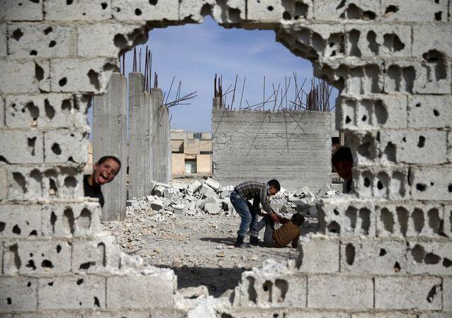 Edificios destruidos en Siria
