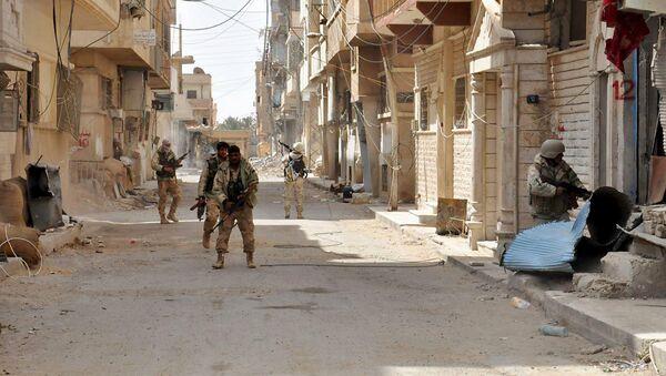 Militares sirios en Palmira - Sputnik Mundo