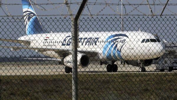 El avión de Egyptair Airbus A320 (archivo) - Sputnik Mundo