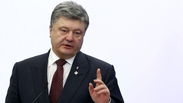 Petró Poroshenko, el mandatario ucraniano - Sputnik Mundo