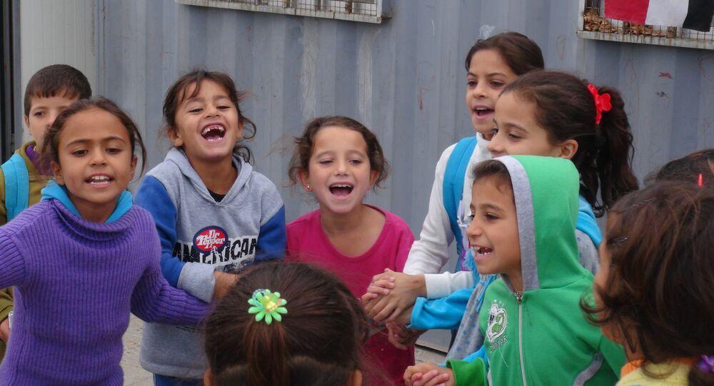Niños en la ciudad de Palmira