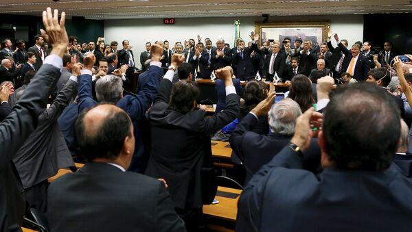 Miembros del Partido del Movimiento Democrático de Brasil - Sputnik Mundo