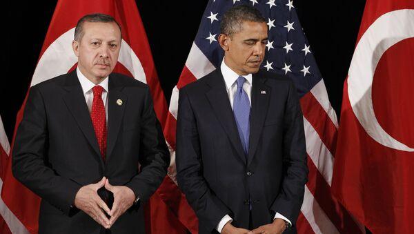 Presidente de Turquía, Recep Tayyip Erdogan y presidente de EEUU, Barack Obama - Sputnik Mundo